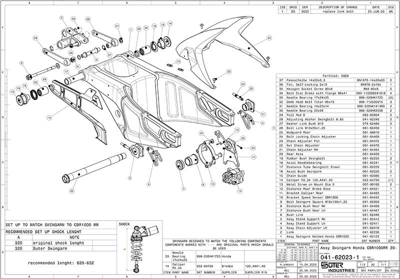 SUTER Swingarm スータースイングアームHONDA CBR1000RR-R 2020-