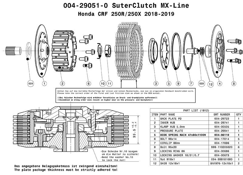 SuterClutchモトクロスクラッチ