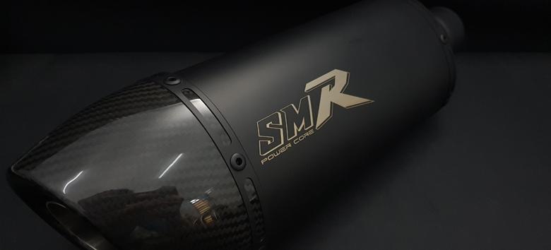 SMR Power Core CRF450L専用 レーシングエキゾーストマフラー オーバルタイプ