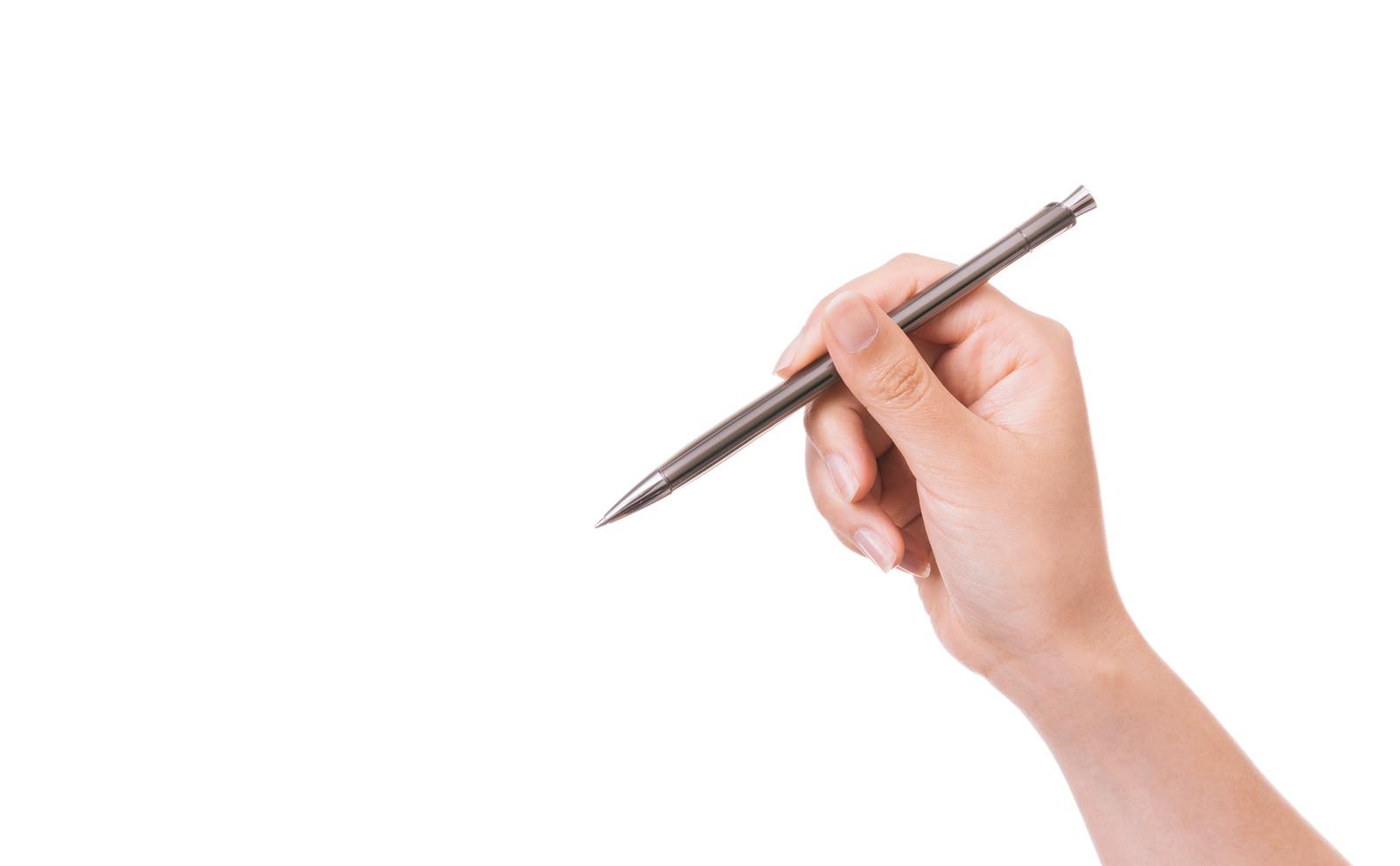 ペンをもつ